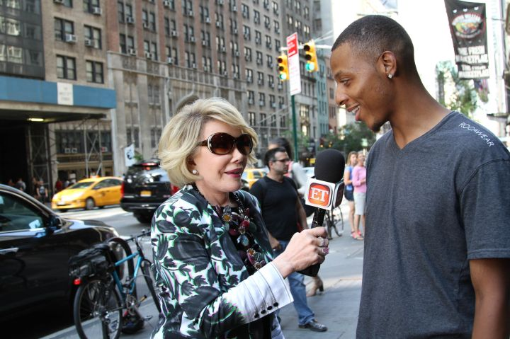 Joan takes to the streets to talk about her latest book.