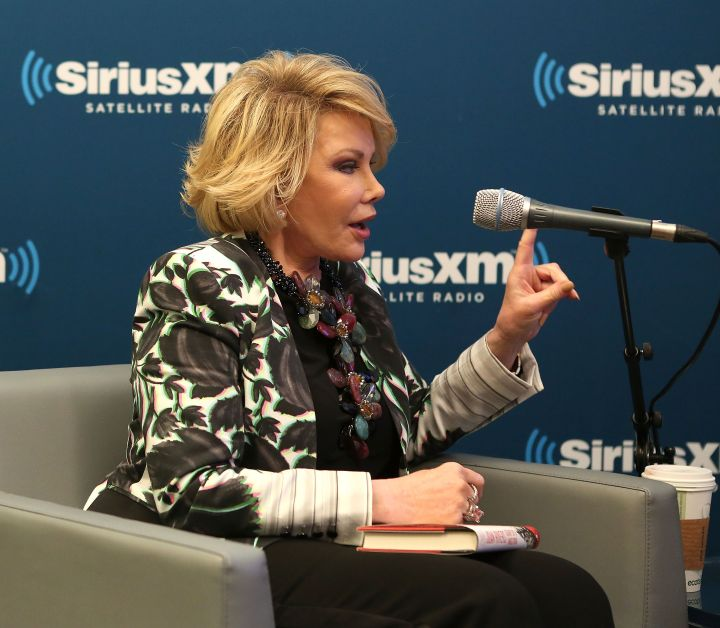 """Joan Rivers promotes her book, """"Diary of A Mad Diva,"""" on Sirus XM Radio."""