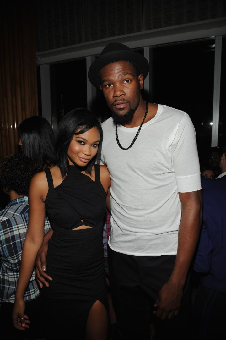 Kevin Durant and Chanel Iman at the NBA 2K15 Launch Celebration at The Standard.