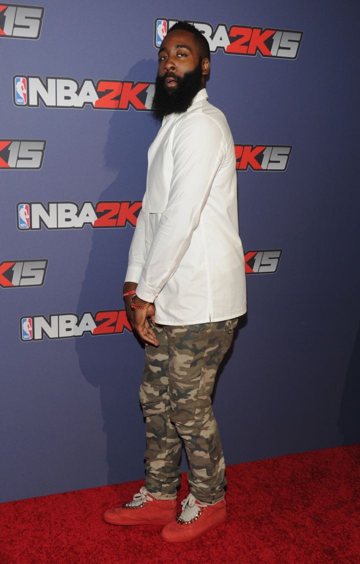 James Harden at the NBA 2K15 Launch Celebration at The Standard NYC.