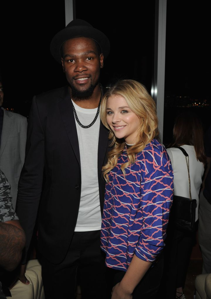 Kevin Durant and Chloe Moretz at the NBA 2K15 Launch Celebration at The Standard.