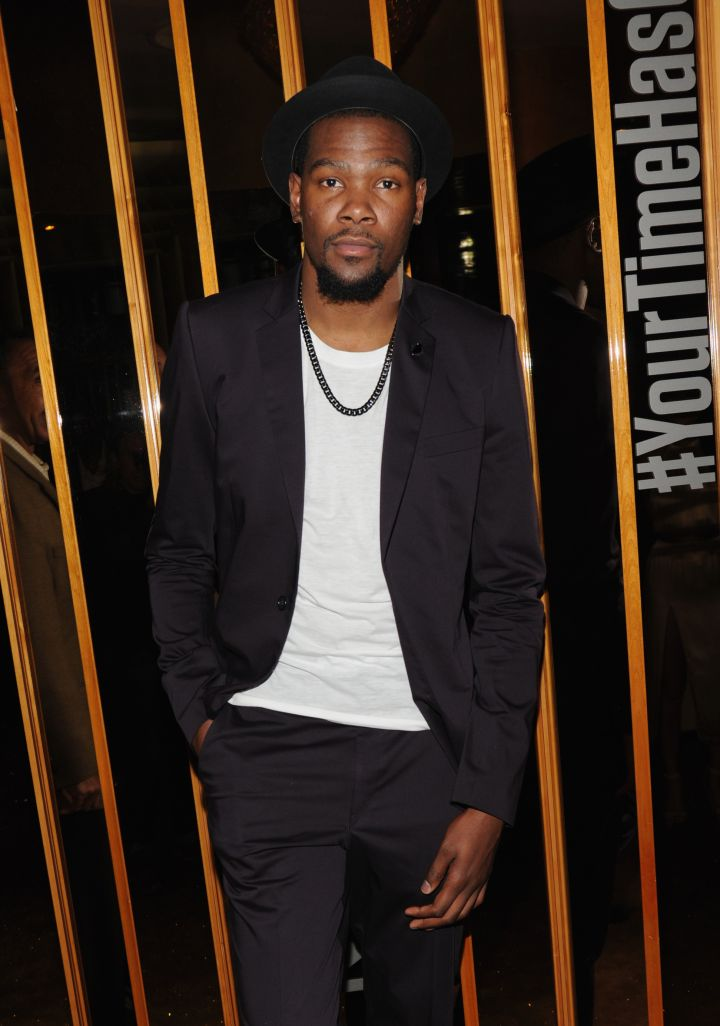 Kevin Durant at the NBA 2K15 Launch Celebration at The Standard.