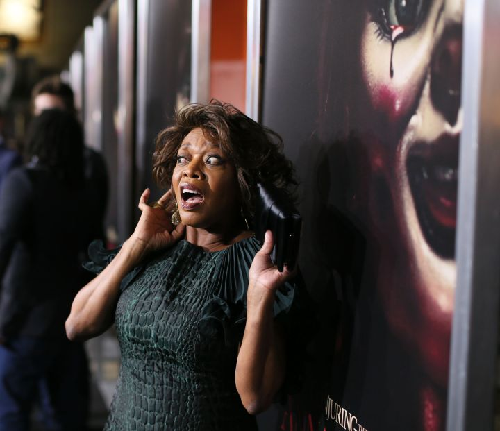 """Alfre Woodard posed for a chilling photo at the premiere of New Line Cinema's """"Annabelle"""" held at the TCL Chinese Theatre."""