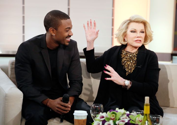 """Joan roasts close friend and fellow celebrity Ray J during a visit to """"Live From The Couch."""""""