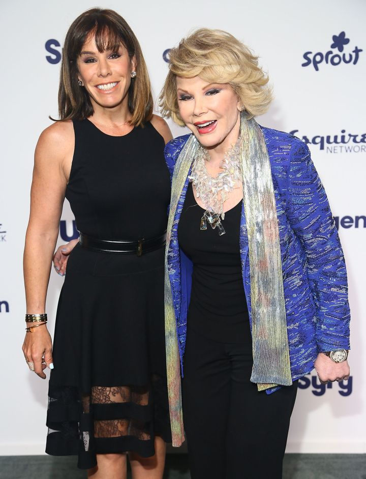 Joan and her daughter Melissa Rivers hit the red carpet at NBCUniversal Cable Upfronts.