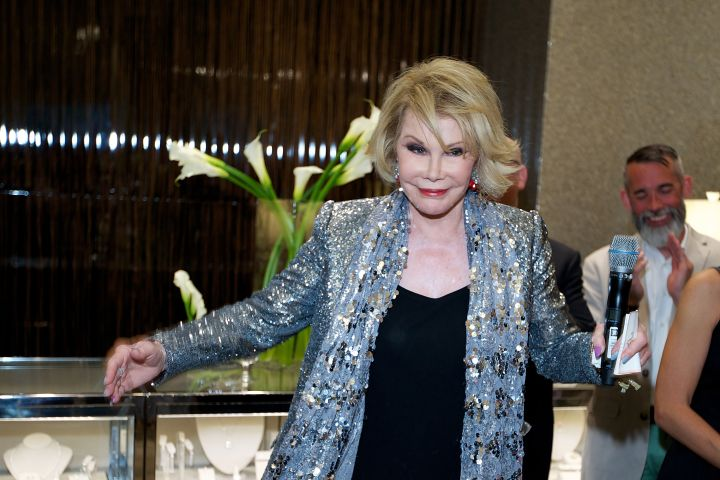 Even at 81, Joan knows how to party.