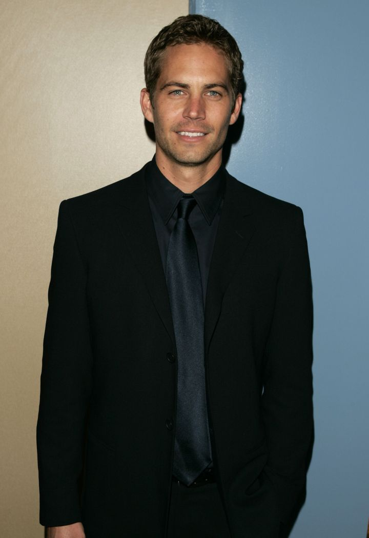 """Paul Walker sports all black everything for the premiere of """"Noel"""" in 2004."""