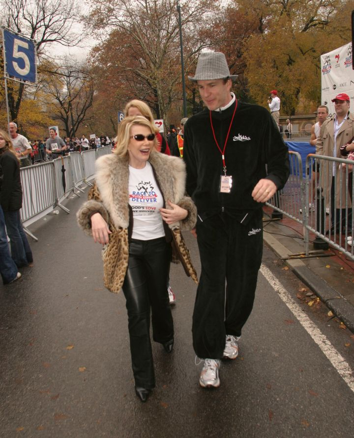 Though athleticism was never her thing, Joan always shows up to support a good cause! Here she is at a race to benefit God's Love We Deliver.