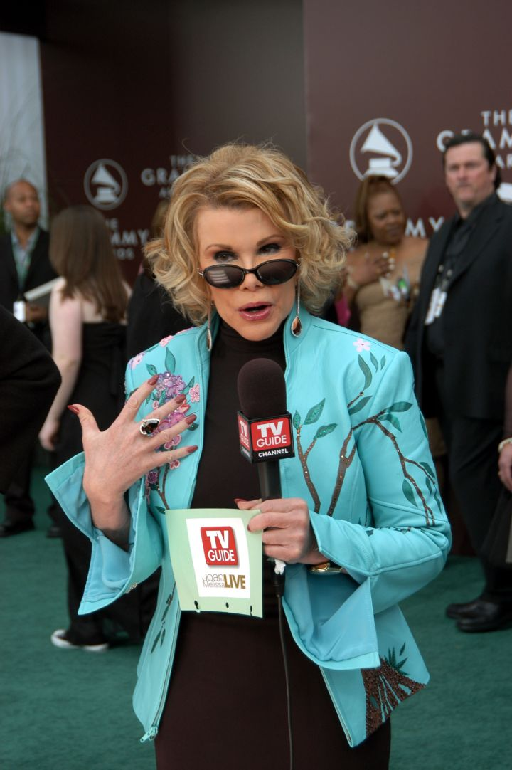 """Prior to her gig on E!'s """"Fashion Police,"""" Joan was a TV personality on the TV Guide channel."""