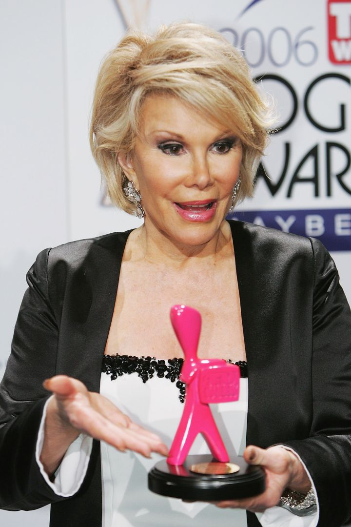 During her career, the TV personality garnered numerous accolades, including this bright pink Logie Award in 2006.