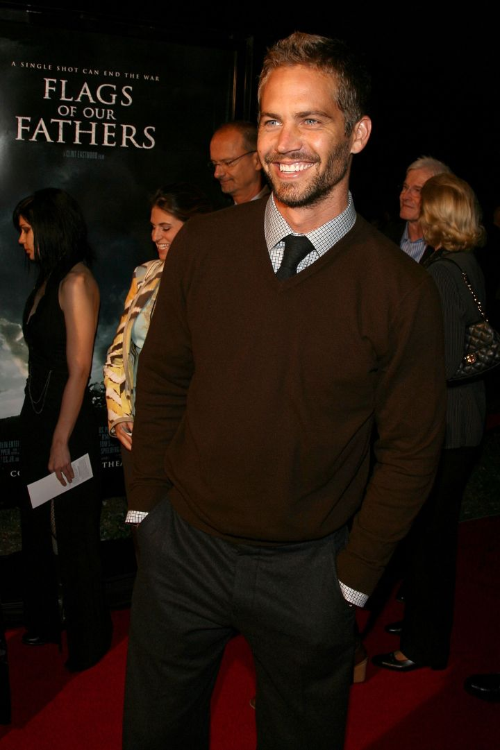 """Walker stepped out looking dapper for the premiere of """"Flags of Our Fathers"""" in 2006."""