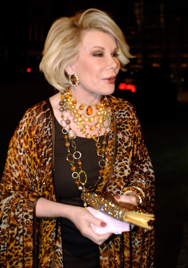 Joan is fearless fashion-wise, always making bold statements with her clothes.