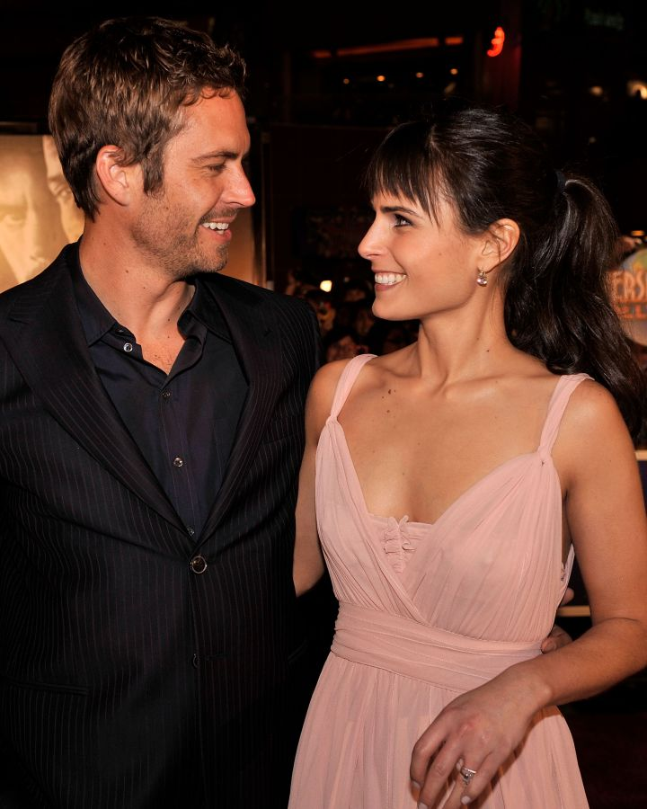 """Paul and Jordana Brewster share a moment before the premiere of """"Fast & Furious"""" in 2009."""