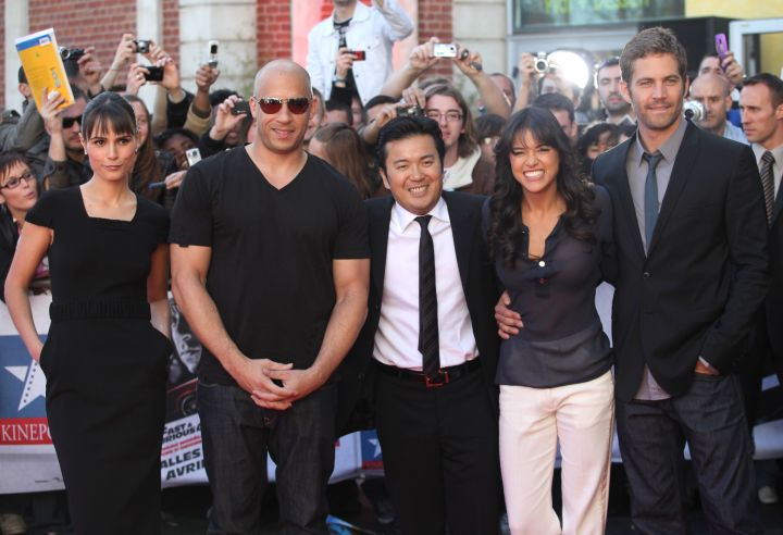 """The """"Fast & Furious 4″ cast gather for a photocall in 2009."""