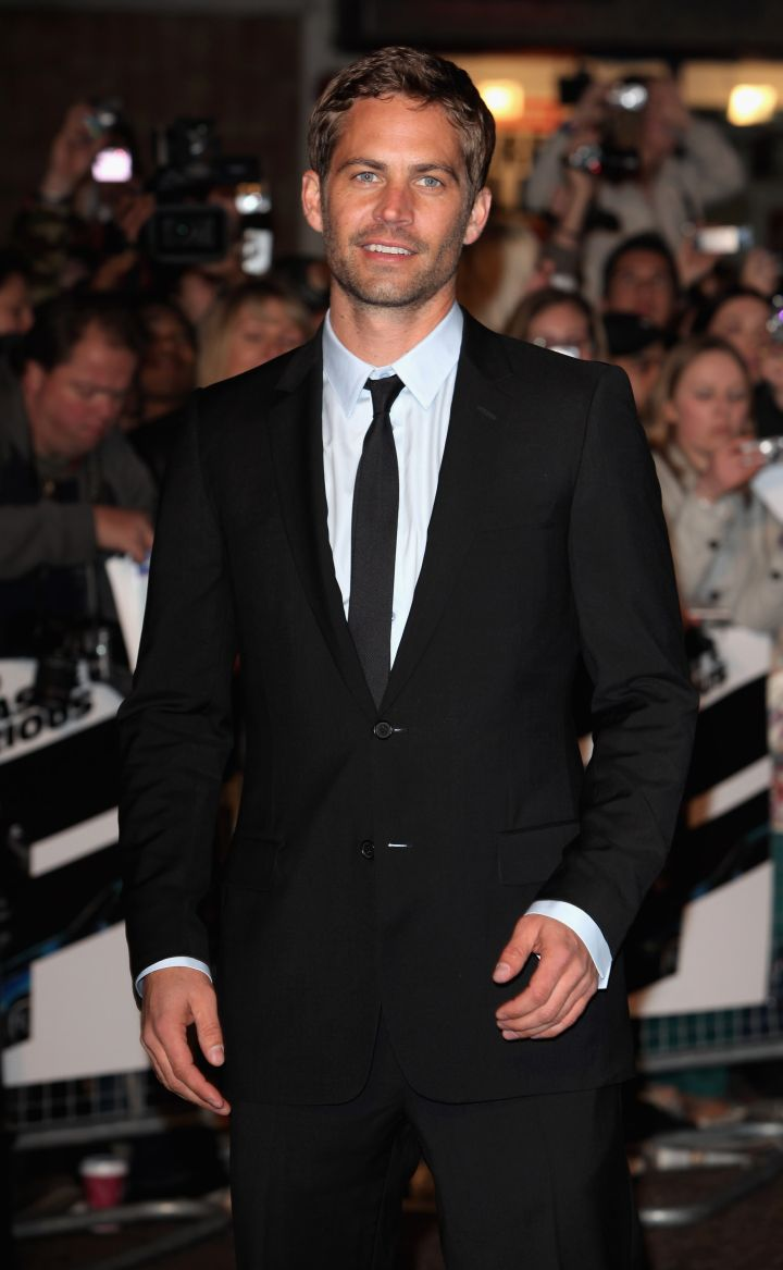 """Walker sports classic black and white for the 2009 European premiere of """"Fast & Furious 4."""""""