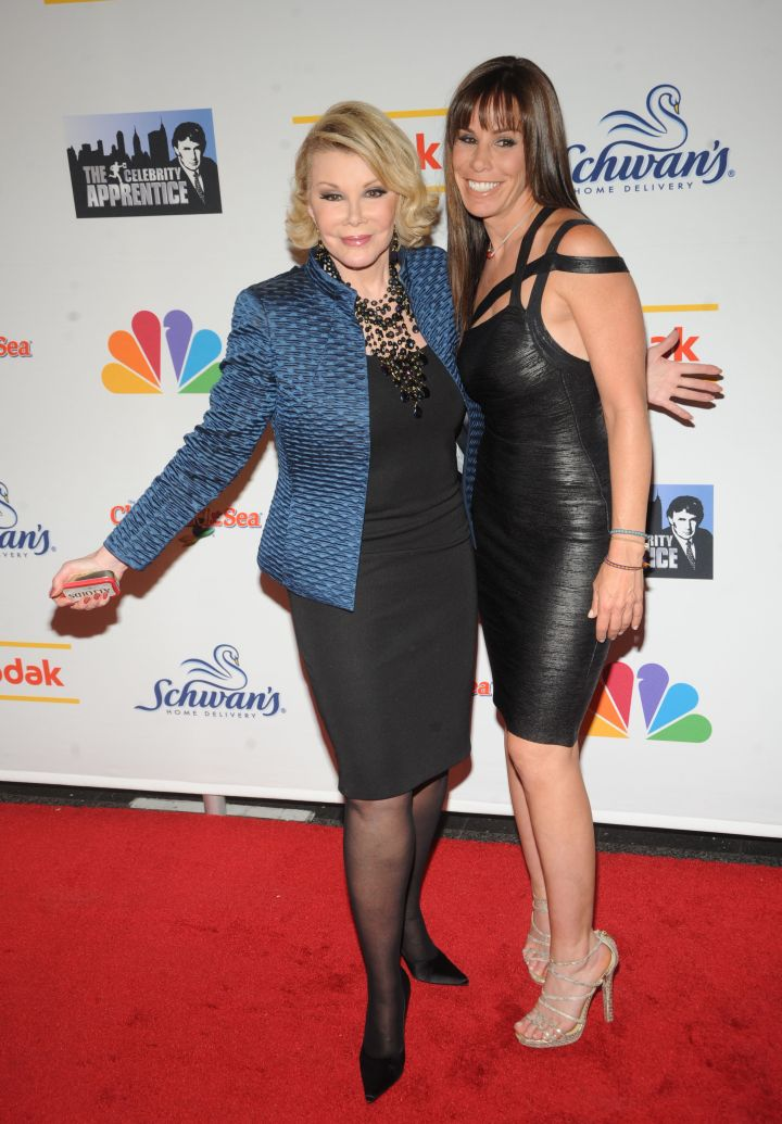 """Joan and her daughter Melissa celebrate the season finale of """"The Celebrity Apprentice."""""""
