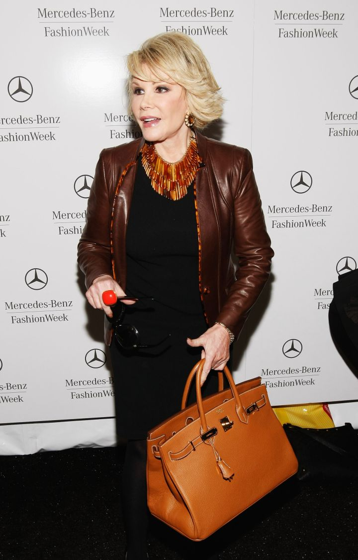 Joan Rivers became a fixture at New York Fashion Week.