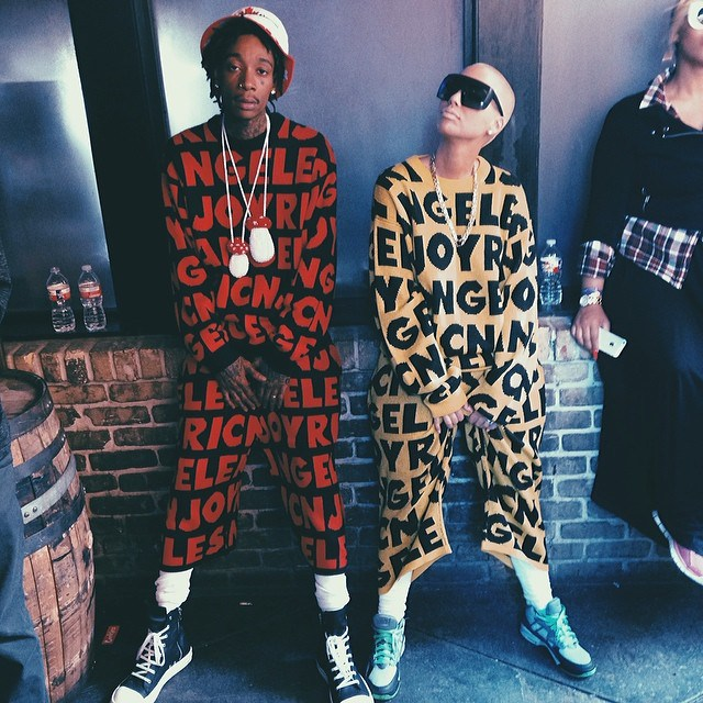 Amber and Wiz looked super cute at SXSW 2014. They were wearing matching outfits.
