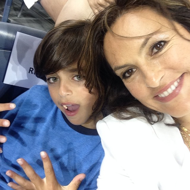 Mommy + (TV) son time with August.