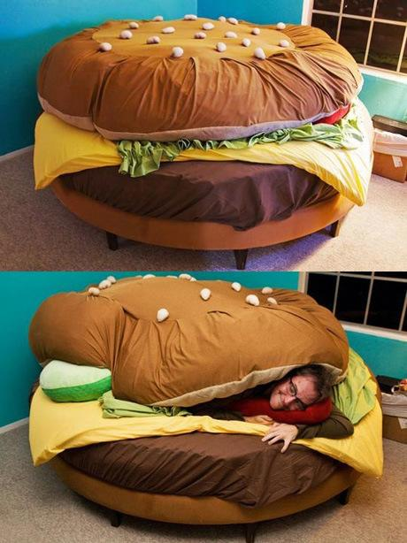A Cheeseburger Bed Definitely Beats Out Any Sealy Mattress.
