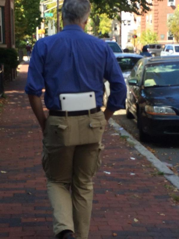 Who Needs A Laptop Case When You Have Space In The Ass Part Of Your Pants?