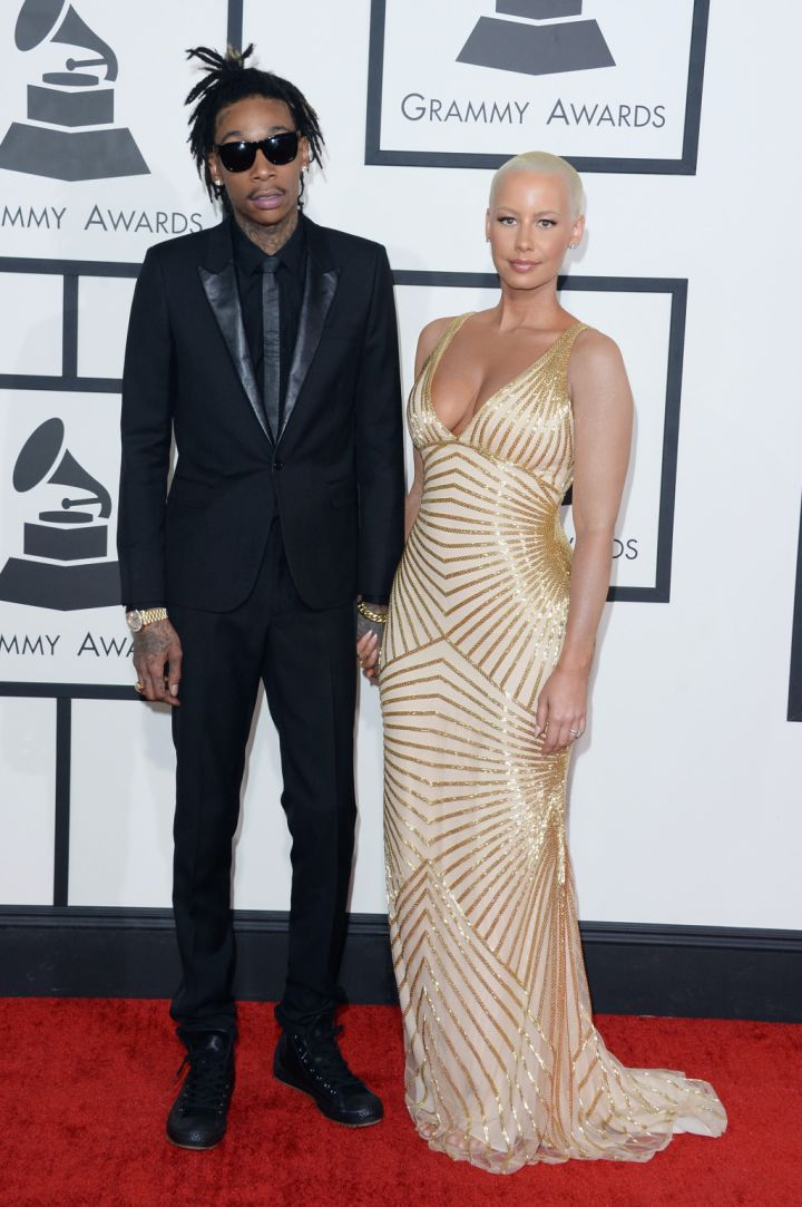 Wiz and Amber looked super elegant during the 2014 Grammy Awards ceremony.