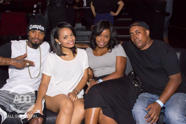 Kyla Pratt brings it in close for a quick flick at the show.