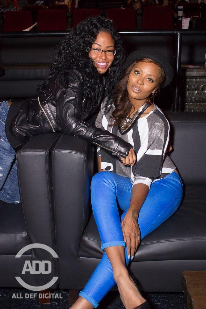 LaShontae poses with model Eva Marcille.