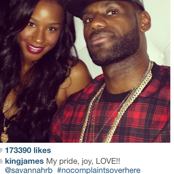 Love on top! Savannah reposted this love message from her boo.