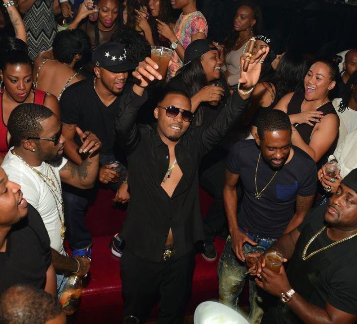 Nas celebrates his birthday at Compound Atlanta with Hennessy V.S.