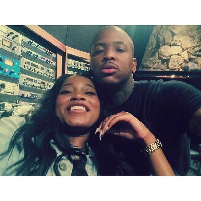 YG is one of her homies; now she can drink with him.