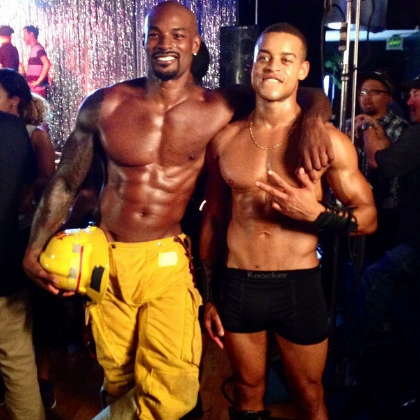 Tyson Beckford and Robert Ri'chard show the ladies what's to come.