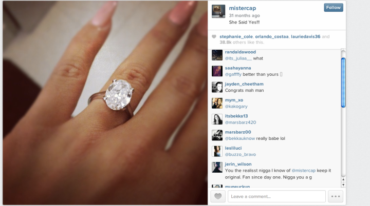 In the Spring of 2012, Wiz popped the question. Amber happily said yes.