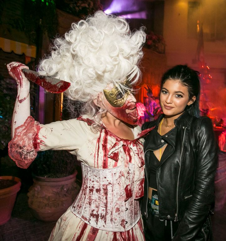 Kylie was spotted at Universal's Halloween Horror of Nights.