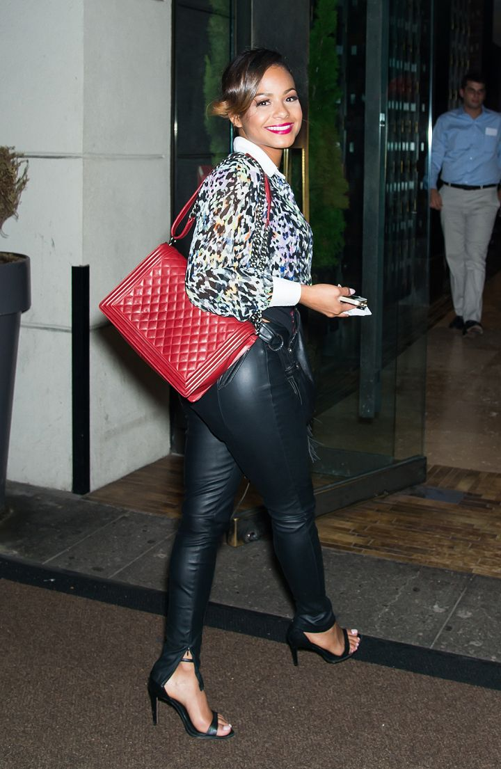 """Christina Milian hits up Empire Hotel in NYC for the """"VH1 Couples Therapy"""" bash."""