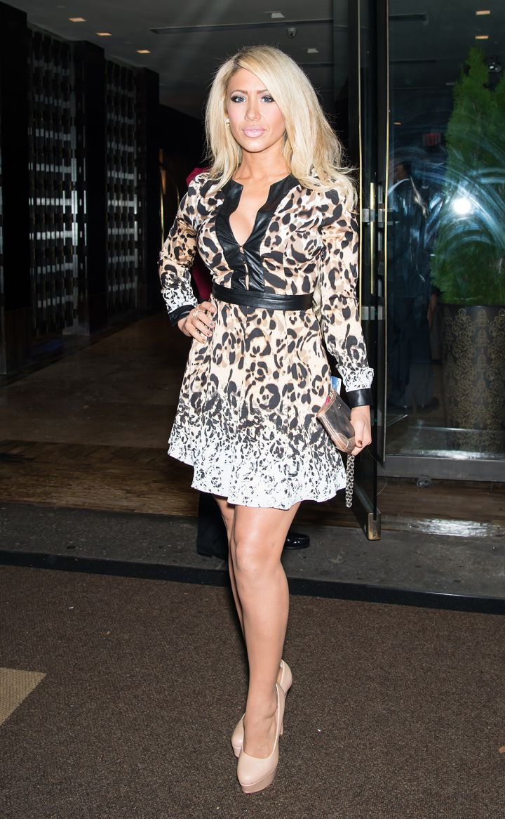 """GinaMarie Zimmerman hits up Empire Hotel in NYC for the """"VH1 Couples Therapy"""" bash."""