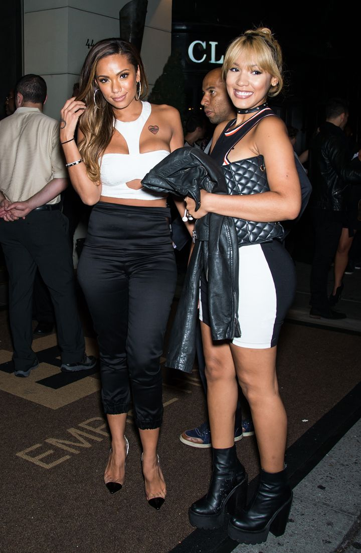 """Erica Mena & Yaris Sanchez hit up Empire Hotel in NYC for the """"VH1 Couples Therapy"""" bash."""