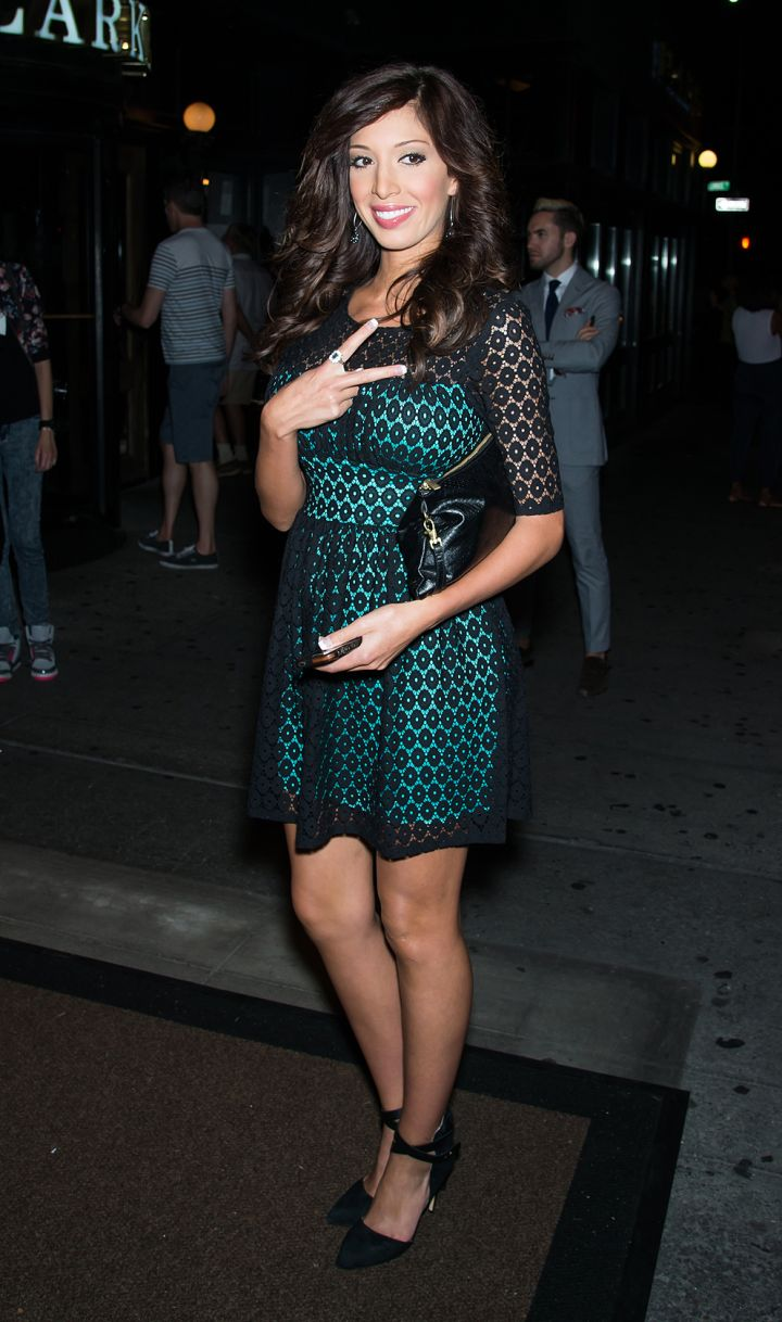"""Farrah hits up Empire Hotel in NYC for the """"VH1 Couples Therapy"""" bash."""