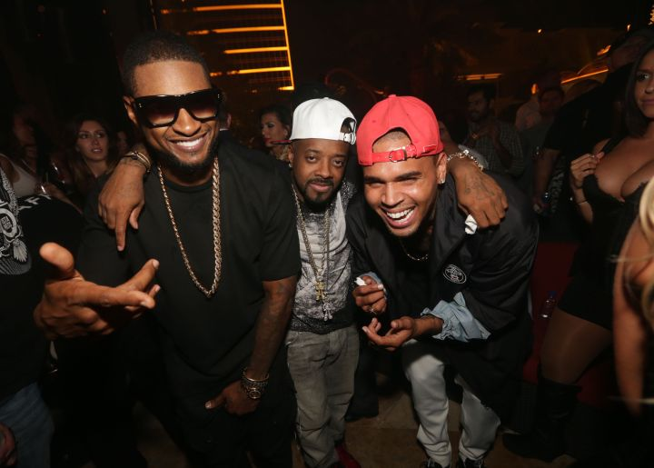 Chris Brown & Usher had the time of their lives at Jermaine Dupri's birthday bash in Las Vegas!
