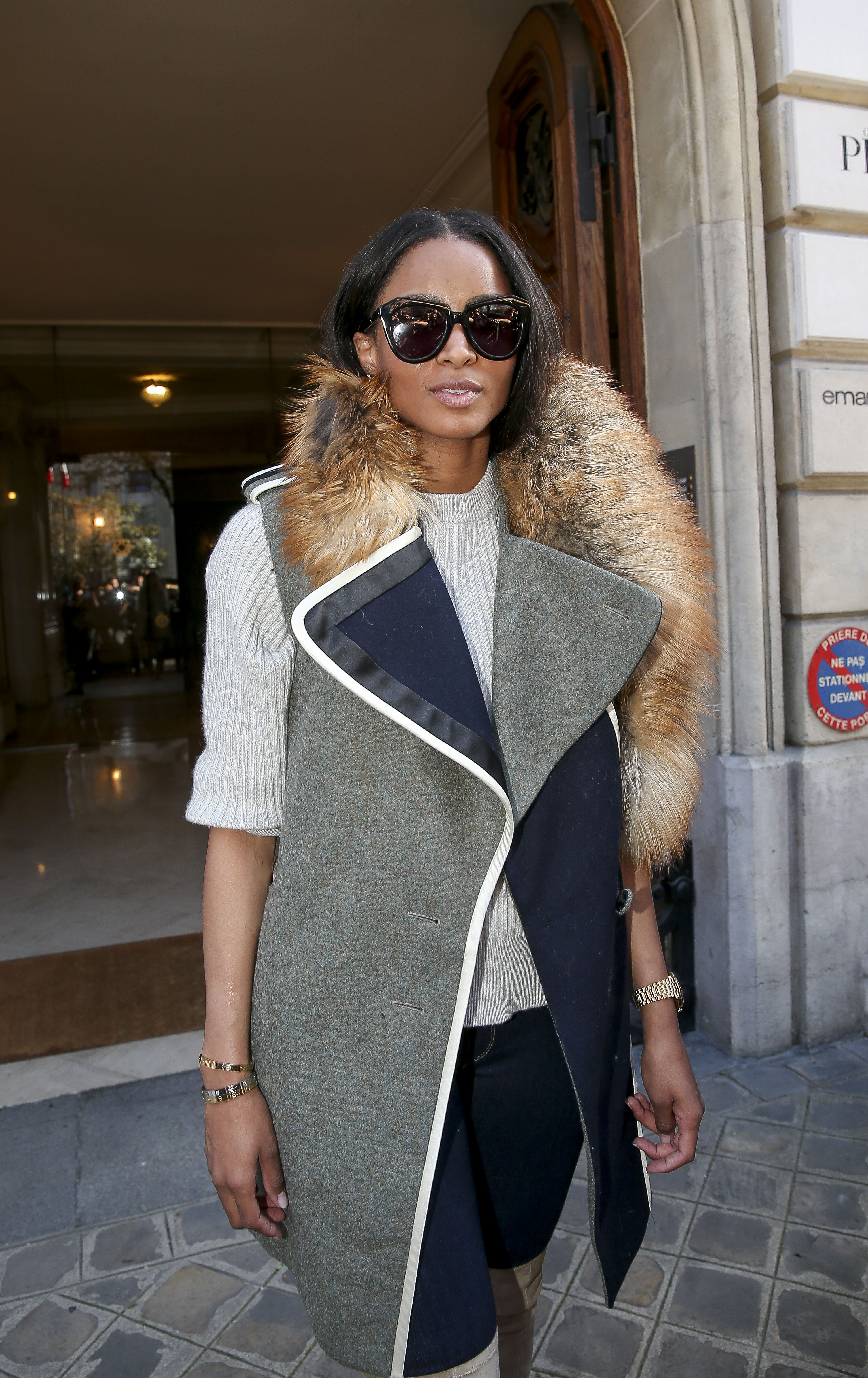 Celebrities seen at Givenchy's office in Paris