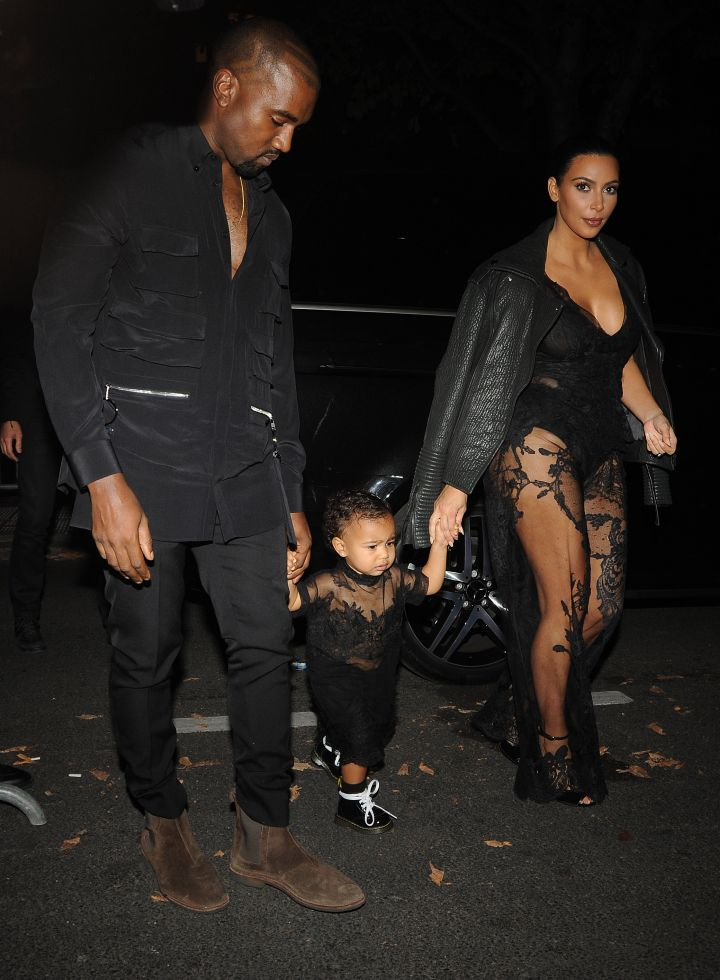 During this year's Paris Fashion Week, North rocked matching sheer outfits with her mom and dad.