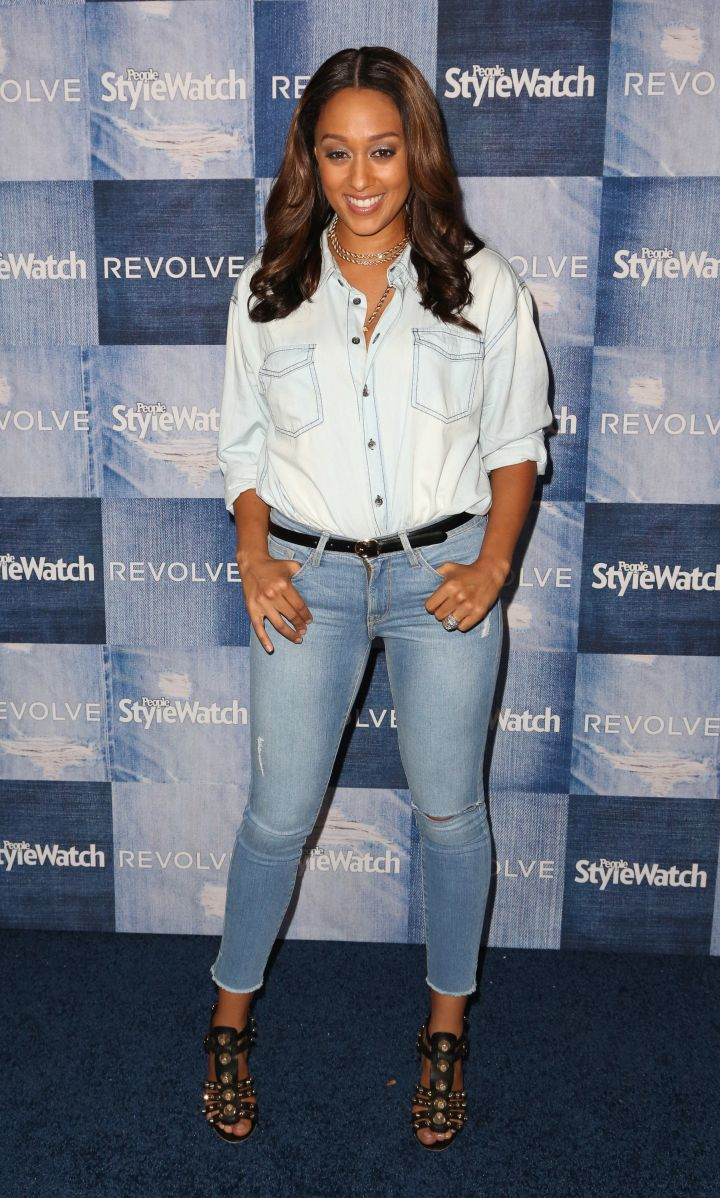 Tia Mowery shows off her casual denim look at the 2014 People Style Watch 4th Annual Denim Awards.