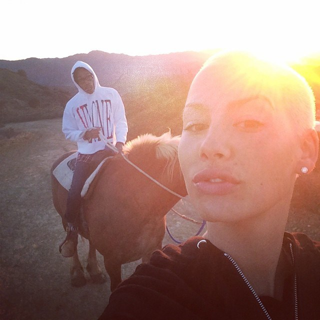 Wiz and Amber spent some time horseback riding.