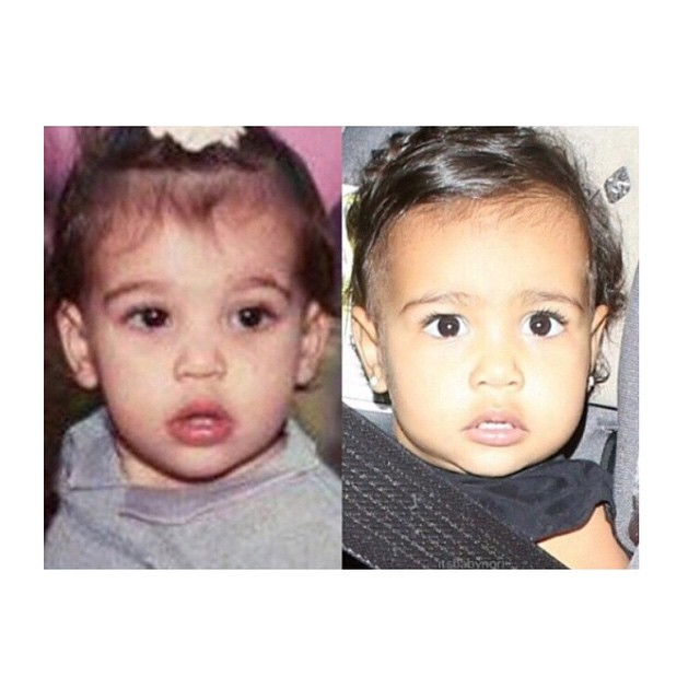 Remember when Kim shared this adorable side by side pic of her and North? Twinning.