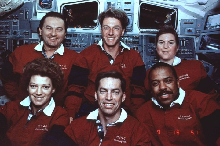 Janice Elaine Voss (upper right) held the record for the most trips taken into space by a woman. She continued working with NASA before dying of the disease in 2012.