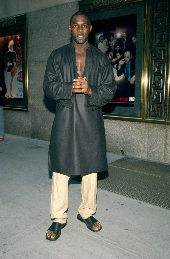 Idris Elba: Though the actor did an incredible job playing the kingpin Stringer Bell, clearly, he still fell victim to the fashions of the early 2000s.