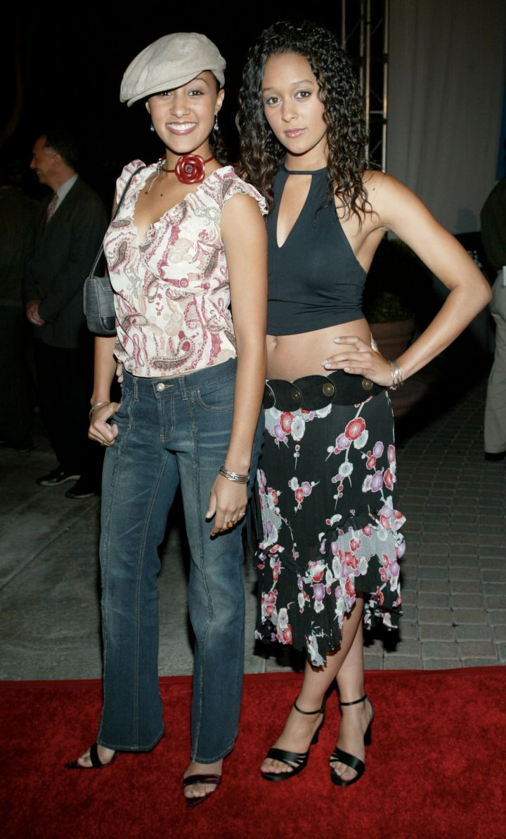 """Tia & Tamera were definitely twinning in the '90s with their hit show """"Sister, Sister."""""""