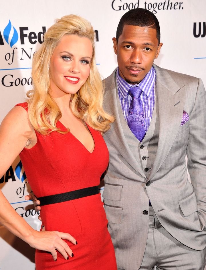 Jenny McCarthy posed on the red carpet with Nick.