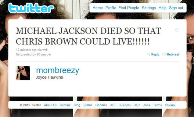 CHRIS BROWN'S MOM LOVES HER SON (2012)