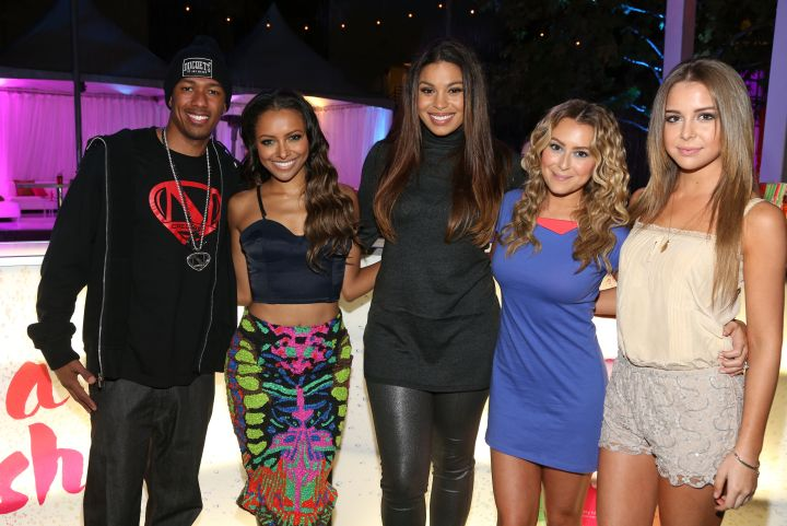 Kat Graham, Jordin Sparks, and other ladies kick it with Nick Cannon.